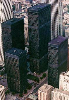 Toronto Dominion Center, Ludwig Mies van der Rohe 1967-69 (via SkyscraperCity)| Tumblr