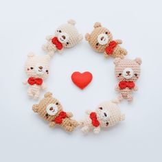 Free Pattern 'The Simply Bear Keychain'Happy Valentine's Day Everyone. I have something special for you… This is a simply bear amigurumi for the beginner, they so easy and lovely for your someone special… Let's start!!! • Material: 1. Cotton...
