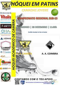 Hóquei em patins: HA Cambra vs AA Coimbra > 28 Dez 2014, 11h @ Pavilhão Municipal, Vale de Cambra  _Campeonato Regional Sub-15_  #ValeDeCambra #hoqueiPatins