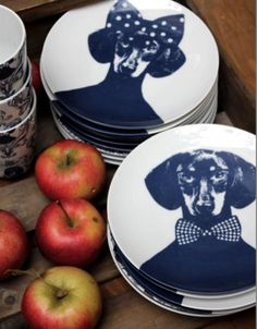 wiener plates! LOL, my husband would draw the line here but still cute! haha! ;)