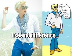 Eli from U-KISS and Fred from Scooby Doo--I see no difference