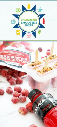 You and your kids love creating delicious treats together, and this recipe for Strawberry Smoothie Pops will be no exception! With Member's Mark frozen strawberries, granola, and Powerade® inside, this sweet snack is also great before a workout. Who knew it could be so easy to enjoy fruity fun with your family?! Plus, you can pick up everything you need at  Sam's Club.
