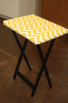 Convert a tv tray into a mini ironing board - for my sewing room!
