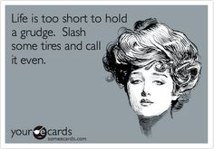 Slash the tires and move on!