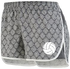 The perfect casual athletic volleyball short for on and off the court. Sporty graphite/white plexus pattern will match any volleyball t-shirt.
