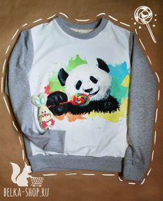 Lollypop panda | Sweatshirt by Belkashop on Etsy