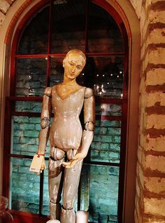 large antiqued mannequin