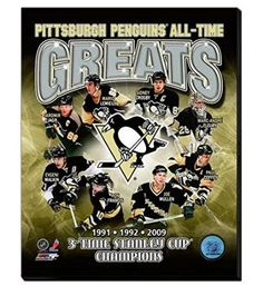 Pittsburgh Penguins All Time Great players Canvas Framed Over With 2 Inches Stretcher Bars-Ready To Hang- Awesome & Beautiful