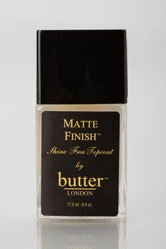butter LONDON Matte Top Coat Nail Polish #urbanoutfitters