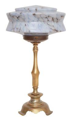 Zauberhafte original Jugendstil Art Déco Schreibtischleuchte Tischlampe 1930