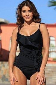 Ujena Z244 Black Ruffled Tankini   #Ujena #bikini #swimsuit #tankini