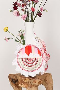 ITEM 6.3 ~ POPPY | Isobel Badin Colorful Flowers, White Flowers, White Bow Tie, Moon Shapes, Remembrance Day, Craft Bags, Circle Shape, Pink Quartz, Pink Opal