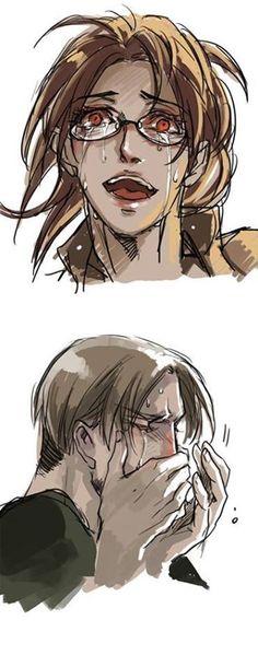Creepy Zoe crying and really REALLY sad Mike crying. :(