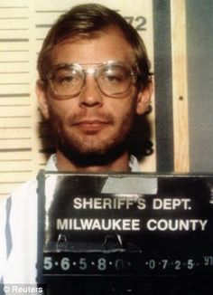 Jeffrey Dahmer July 25th, 1991. Charged with 4 accounts of murder when this mugshot was taken