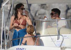 hot look of Natalie brown bikini