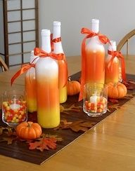 Image detail for -candy corn wine bottles!