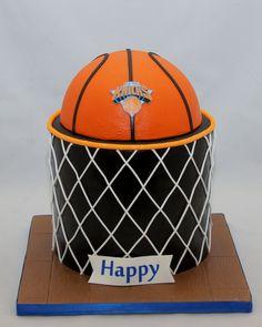 Basketball & Net Birthday Cake