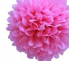 "Tissue Paper Pom Pom - Etsy $4 for a 17"" diameter pom"