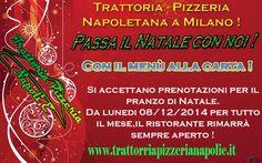 Passa il natale con noi ! www.trattoriapizzerianapolie.it