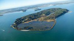 Aerial view of Brownsea Island