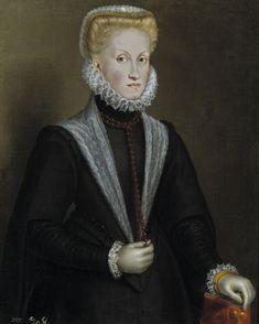 SOFONISBA ANGUISSOLA, Ana de Austria, 1573, Museo del Prado. (1549-1580), cuarta esposa de Felipe II, madre de Felipe III