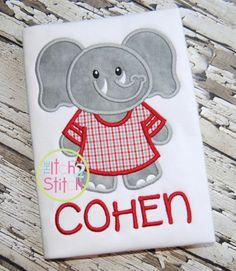 I2S Elephant Jersey Applique design