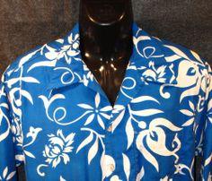 Kimo's Polynesian Shop Vintage 60's-70's Men's Cabana Hawaiian Shirt SZ L