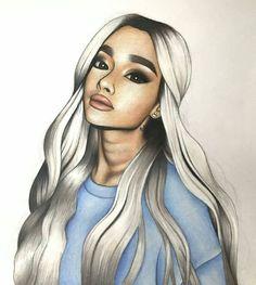 Ariana Grande Anime, Ariana Grande Drawings, Ariana Grande Fans, Ariana Grande Wallpaper, Princesse Disney Swag, Cute Kawaii Girl, Photo Star, Girly M, Celebrity Drawings