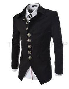 2017 New Arrival Mens Blazer Jacket Multi-button Design Men's Casual Slim Fit Suit Jacket
