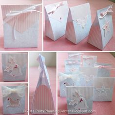 Thrifty Handmade Gift Bags - tutorial by Carla from Party Planning Center. Send out some holiday cheer with this great handmade gift idea!