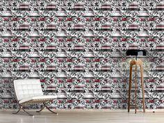 Design #Tapete Schottisches Rosenkaro City Photo, Bouquet, Design, Self Adhesive Wallpaper, Wall Papers, Bouquets
