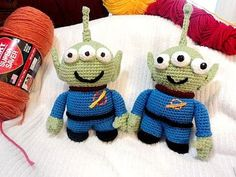 free crochet patterns: crochet alien lgm inspired by toy story - crafts ideas - crafts for kids