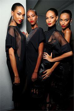 Jordann Dunn + Yasmin Warsame + Joan Smalls +Anais Mali x The inspiration of Sade = Fab!