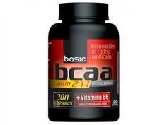 BCAA 2:1:1 + Vitamina B6 300 Cápsulas - Basic Nutrition