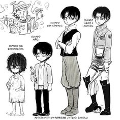 Levi growing up, aging stages