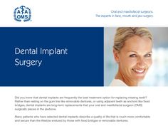 Dental Implant Surgery, Missing Teeth, After Surgery, How To Remove, Good Things, Face, Tips, Faces, Facial