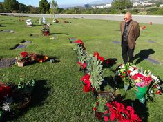 Angelo Bertolotti visits the grave of his daughter Brittany Murphy on the 4th anniversary of her death
