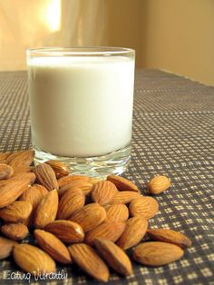 Raw Vegan Almond Milk Recipe - Eating Vibrantly. Step by step photos on how to make mylk (the procedures) #rawveganmylk #nondairymilk