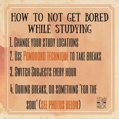 HOW TO NOT GET BORED WHILE STUDYING