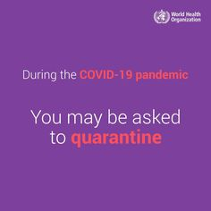 During the COVID-19 pandemic, you may be asked to quarantine. Watch this video for some advice on how to take care of yourself during that time. How To Protect Yourself, Take Care Of Yourself, Health Advice, Watch Video, Public Health, Take That