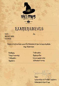 Escape game: Hallows skola för häxeri & magi 10-14 år.  HALLOWEENNYHET! Ett superkul Escape game på Hallows  skola för häxeri & magi där man utbildar trollkarlar och häxor i  åldern 10-14 år. Först ska eleverna skrivas in och sorteras i elevhem  sedan ska de klara av åtta spännande lektioner i Hallows hemliga, låsta  kammare för att ta examen! #halloween #halloweenfest #escapegame #escaperoom #party #festlekar Exit Games, Escape Room, Halloween, Party, Inspiration, Biblical Inspiration, Fiesta Party, Parties, Halloween Stuff