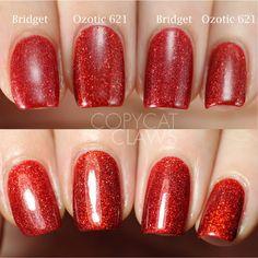 Picture Polish Red Holo Comparison