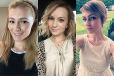 My hair evolution. I went from long to short. Pixie cut hair bob long hair short hair don't care