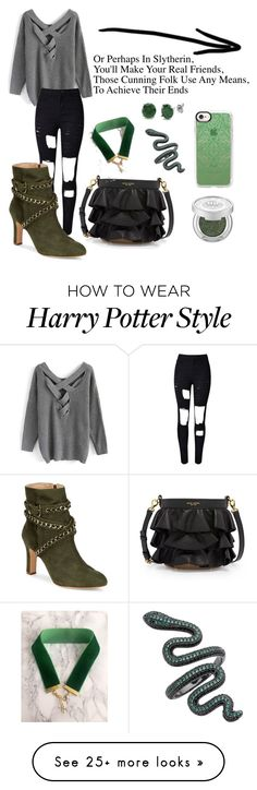 """slytherin-ly"" by regan-coffey on Polyvore featuring Henri Bendel, Chicwish, BERRICLE, John Lewis, Schutz and Casetify Harry Styles Memes, Harry Styles Cute, Harry Styles Imagines, Harry Potter Images, Harry Potter Style, Jack Johns, Gucci Suit, Girl Outfits, Fashion Outfits"
