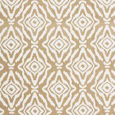 Scalamandre Zanzibar linen print-sand