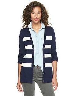 Eversoft striped cardigan