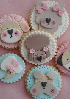 Fondant Cupcakes, Pasta Ballina, Tapas, Rainbow Sugar Cookies, Sugar Art, Baby Shower, Persona, Desserts, Cookie Ideas