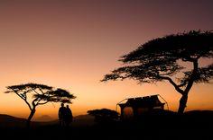 Dusk over Oliver's Camp in #Tanzania's Tarangire National Park.