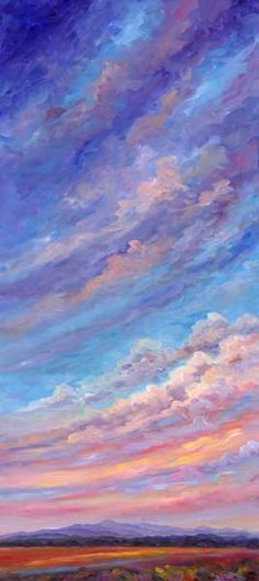 "JEFF PITTMAN "" AFTERNOON CLOUDS "" ORIGINAL OIL ON WOOD PANEL"