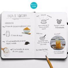 Leche Dorada de Cúrcuma. Deliciosa y llena de propiedades. Aquí te pasamos la receta para la Pasta de Cúrcuma que es la base de la leche dorada.